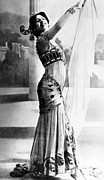 Exotic Dancer Framed Prints - Mata Hari, 1876-1917, Dutch Exotic Framed Print by Everett