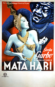 Head Piece Posters - Mata Hari, Greta Garbo, 1931 Poster by Everett