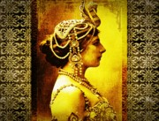 Exotic Dancer Framed Prints - Mata Hari Framed Print by Mary Morawska
