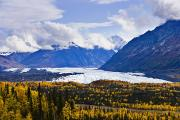 Fall Photographs Prints - Matanuska Glacier Along Glenn Highway Print by Yves Marcoux