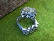 Lost-wax Casting Art - Matching Wedding Bands by Bud Nickell