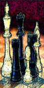 Chess Queen Digital Art Prints - Mate Print by Larry Guterson