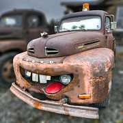 Old Ford Prints - Mater from Cars 2 Ford Truck Print by Dustin K Ryan