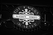 Mathew Posters - Mathew Street Sign In The Cavern Quarter In Liverpool City Centre Birthplace Of The Beatles Poster by Joe Fox