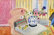 Windflower Framed Prints - Matisse - Anemones 1922 Framed Print by Granger
