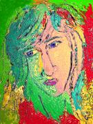 Portraiture Digital Art Metal Prints - Matisse Inspiration Metal Print by Donna Blackhall
