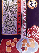 Interior Still Life Photo Metal Prints - Matisse: Pomegranate, 1947 Metal Print by Granger