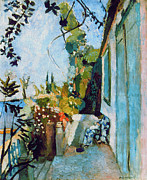 Tropez Framed Prints - Matisse Terrace 1904 Framed Print by Granger