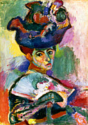 Portrait Framed Prints - Matisse: Woman W/hat, 1905 Framed Print by Granger