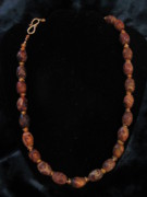 Czech Jewelry - Matt agate necklace by Jan Durand