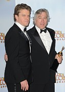 Award Prints - Matt Damon And Robert De Niro Print by Everett