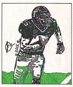 University Drawings Drawings - Matt Forte by Jeremiah Colley