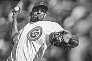 National League Acrylic Prints - Matt Garza Acrylic Print by David Bearden