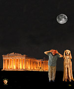 Hepheastus Prints - Matt Hovler screams Athens Print by Eric Kempson