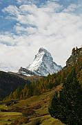 Matterhorn Prints - Matterhorn in the Fall Print by Stan and Anne Foster