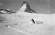 Powder Snow Posters - Matterhorn Skiing Poster by Hulton Collection