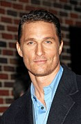 At Talk Show Appearance Posters - Matthew Mcconaughey At Talk Show Poster by Everett