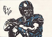 Player Drawings Posters - Matthew Stafford Poster by Jeremiah Colley