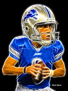Nfl Prints - Matthew Stafford Print by Stephen Younts
