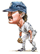 Yankees Painting Prints - Mattingly Print by Tom Hedderich