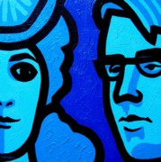 Icons Prints Painting Prints - Maud Gonne and William butler Yeats Print by John  Nolan