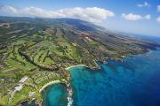 Islands Art Framed Prints - Maui Aerial Of Kapalua Framed Print by Ron Dahlquist - Printscapes