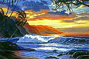 Sunset Seascape Framed Prints - Maui Magic Framed Print by David Lloyd Glover