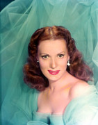 Maureen Prints - Maureen Ohara, 1940s Print by Everett