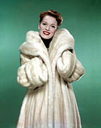 1950s Fashion Posters - Maureen Ohara, 1958 Poster by Everett