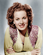 Maureen Prints - Maureen Ohara, Ca. 1940 Print by Everett