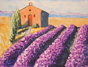 Sokolovich Painting Prints - Mausoleum and Lavender Print by Ann Sokolovich