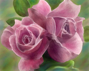 Grow Digital Art - Mauve Roses by Crystal Garner