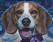 Beagle Prints Posters - Maverick Poster by Tommy Midyette