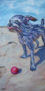 Chihuahua Paintings - Max Against the Wind by Kellie Straw