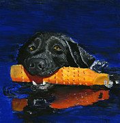 Pooch Paintings - Max by Debbie Brown