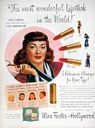 Max Factor Lipstick Ad Print by Granger