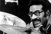 Hand On Chin Photo Framed Prints - Max Roach, Circa 1971 Framed Print by Everett