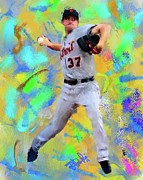Baseball Originals - Max Scherzer by Donald Pavlica