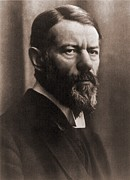 Germans Metal Prints - Max Weber 1864-1920, German Political Metal Print by Everett