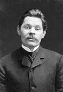 Naturalism Framed Prints - Maxim Gorky 1868-1936 Wrote Framed Print by Everett