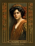 Businessmen Framed Prints - Maxine Elliott 1868-1940 An Actress Framed Print by Everett