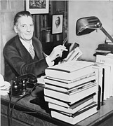 Editor Prints - Maxwell Perkins 1884-1947 As An Editor Print by Everett