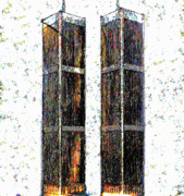 Twin Towers Digital Art Metal Prints - May 2 2011 Metal Print by David Lee Thompson