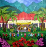 Hanalei Metal Prints - May Day at Hanalei Metal Print by Jerri Grindle