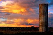 Nature Art - May Day Silo Sunset by James Bo Insogna