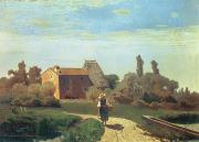 Italy Farmhouse Prints - May Morning Print by Guglielmo Ciardi