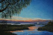 May River Sunset Print by Stanton Allaben