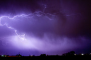 Lightning Bolts Prints - May Showers 2 in Color - Lightning Thunderstorm 5-10-11 Boulder Print by James Bo Insogna