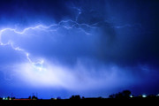 Bouldercounty Prints - May Showers Two in Color - Lightning Thunderstorm 5-10-2011 Print by James Bo Insogna