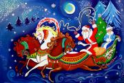 Santa Claus Paintings - May St. Nick Live Forever by JoeRay Kelley